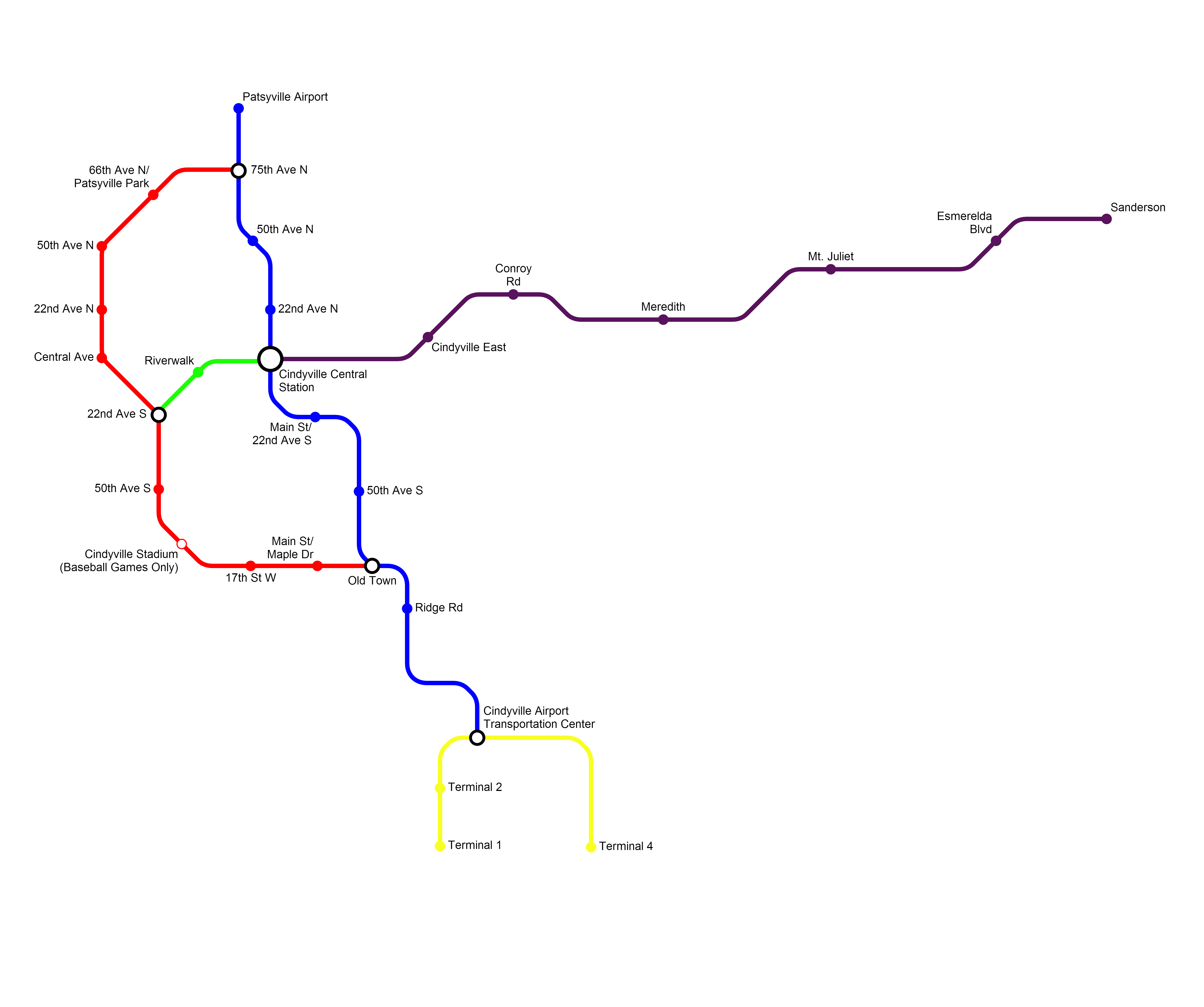 Fantasy Toronto Subway Map.Fantasy Subway The Global Transit Guidebook By Hartride 2012