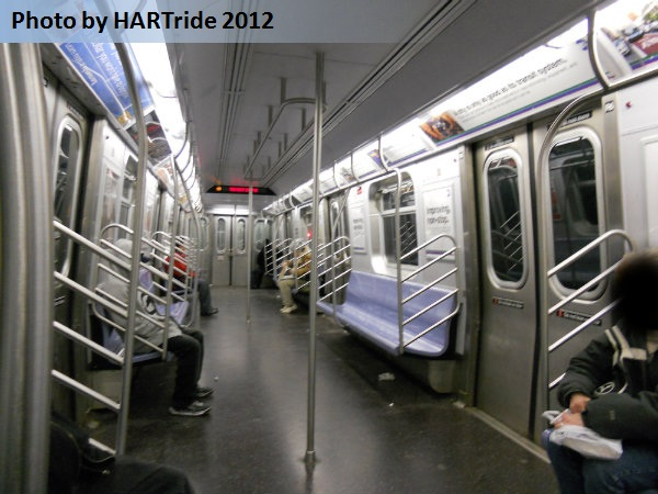 R-160A subway train