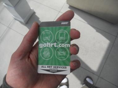 Got my transit pass! Photo taken by HARTride 2012. April, 2013.