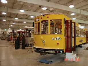 Train #436 being constructed at the Gomaco factory. Photo courtesy of Shawn B.