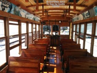 The interior seating, looks just as good as it did back in the day! The restoration efforts of this railcar was painstaking.