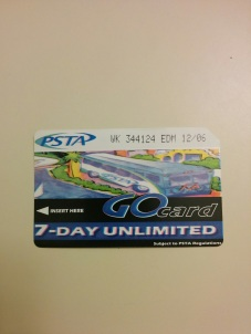 7-Day Go Card (these will be history once the new regional fare system is implemented).