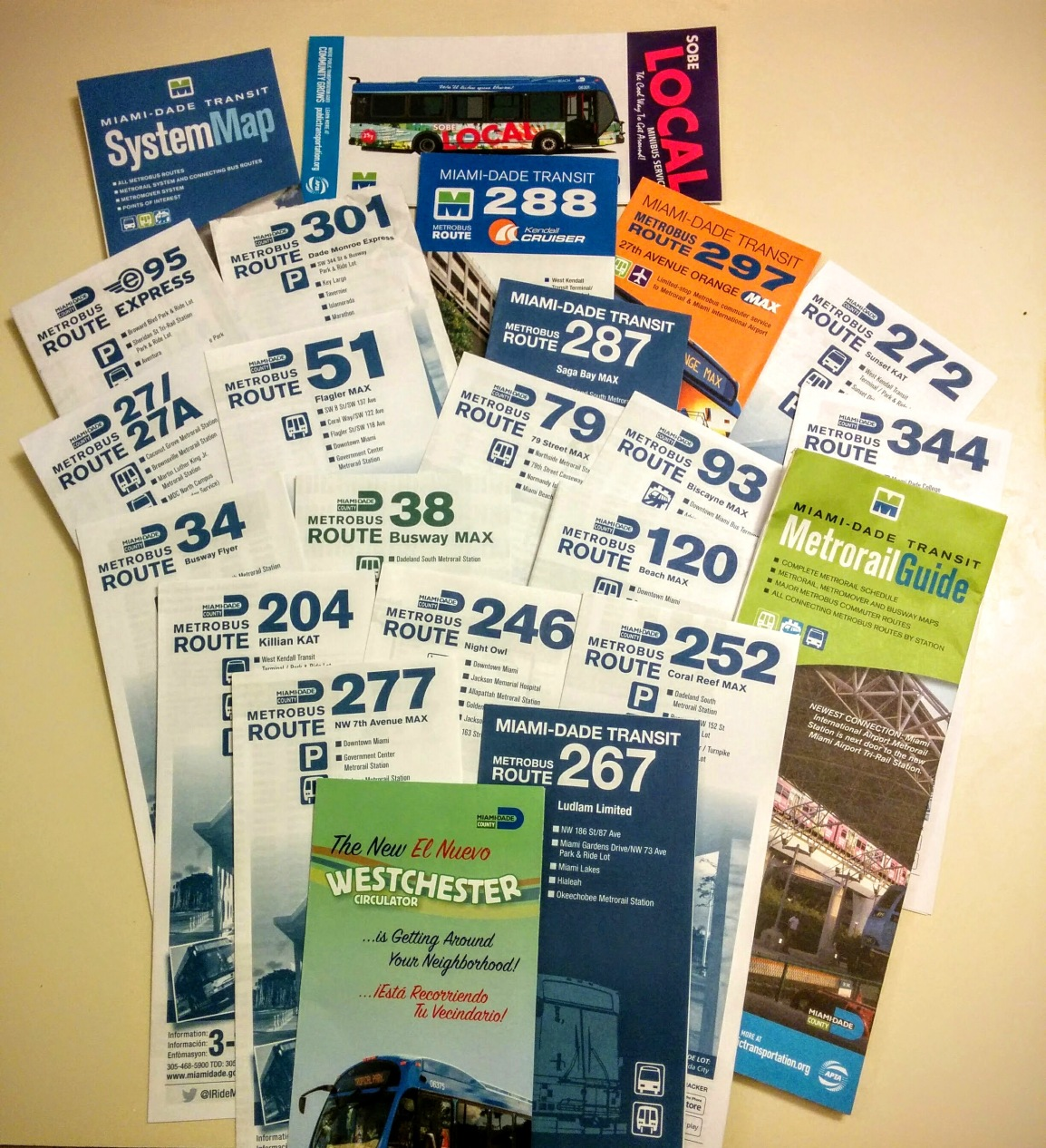 Various Maps and Route Brochures.