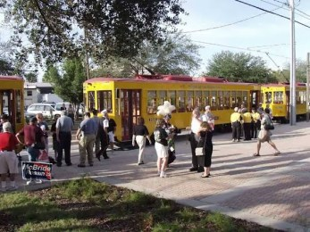 The crowds flock over to see the trains. Photo courtesy of Shawn B.