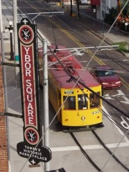 Train #432 running by the Ybor Square Marketplace. Photo courtesy of Shawn B.