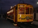 Train #431 all decked out for the holidays! Photo courtesy of Shawn B.