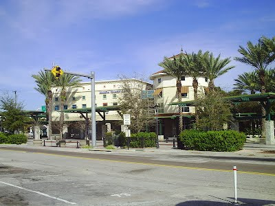 The Marion Street Transit Center in northern Downtown Tampa