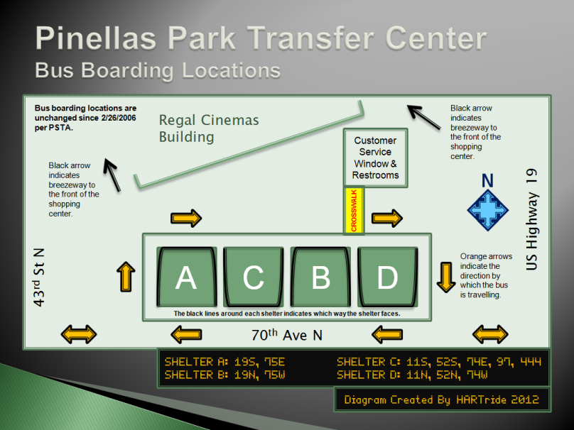 Pinellas Park TC Boarding Locations Custom
