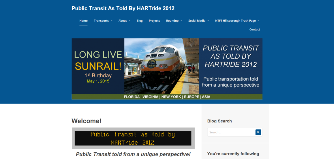 Website appearance as of May, 2015, using the Sequential Theme.