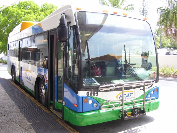 SCAT bus #602 waits at the Downtown Sarasota Transfer Center. Photo taken by HARTride 2012. May, 2008.