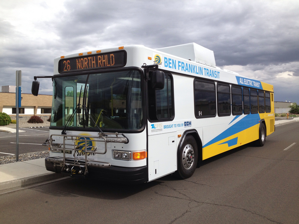 The Ben Franklin Transit (BFT) ZEPS bus. Photo Credit: Zac Ziegler.
