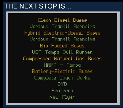 Alternative Fueled Transit Vehicles Banner 2