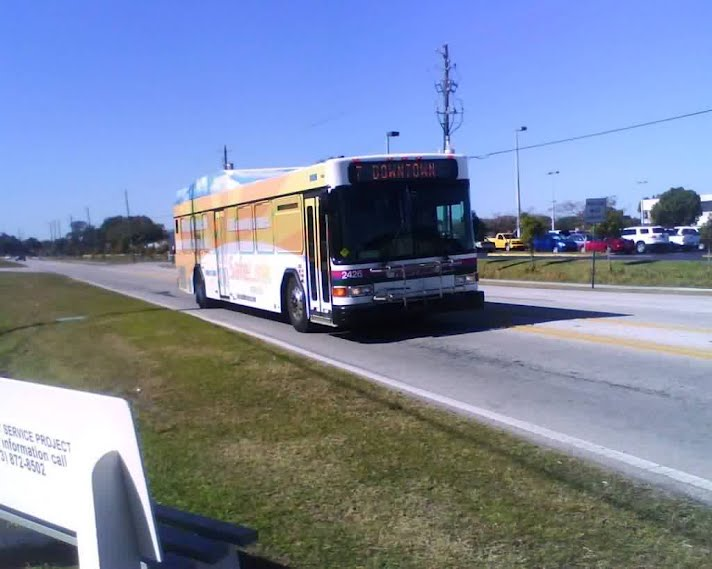 A Hillsborough Area Regional Transit bus runs Route 7 by the Hillsborough Community College Dale Mabry Campus in Tampa. Back in 2007, Route 7's weekday frequency was reduced on its northwestern segment due to budgetary constraints and relatively low ridership. However, the reductions have hurt service going to and from the college campus. Could Norfolk's Old Dominion University soon be seeing an even worse fate with its direct bus line, Route 16? Photo Credit: HARTride 2012.