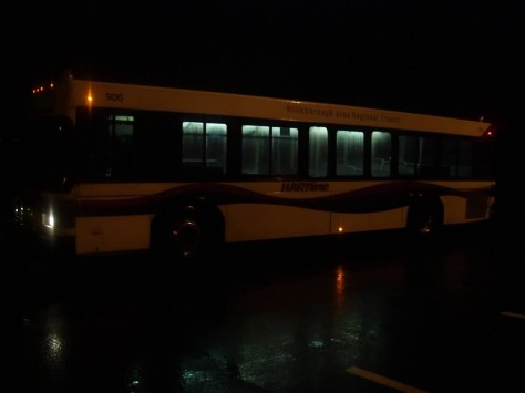This is #906 (before repainting) at the Carrollwood Park-N-Ride, preparing for its morning departure. Photo Credit: Shawn B.