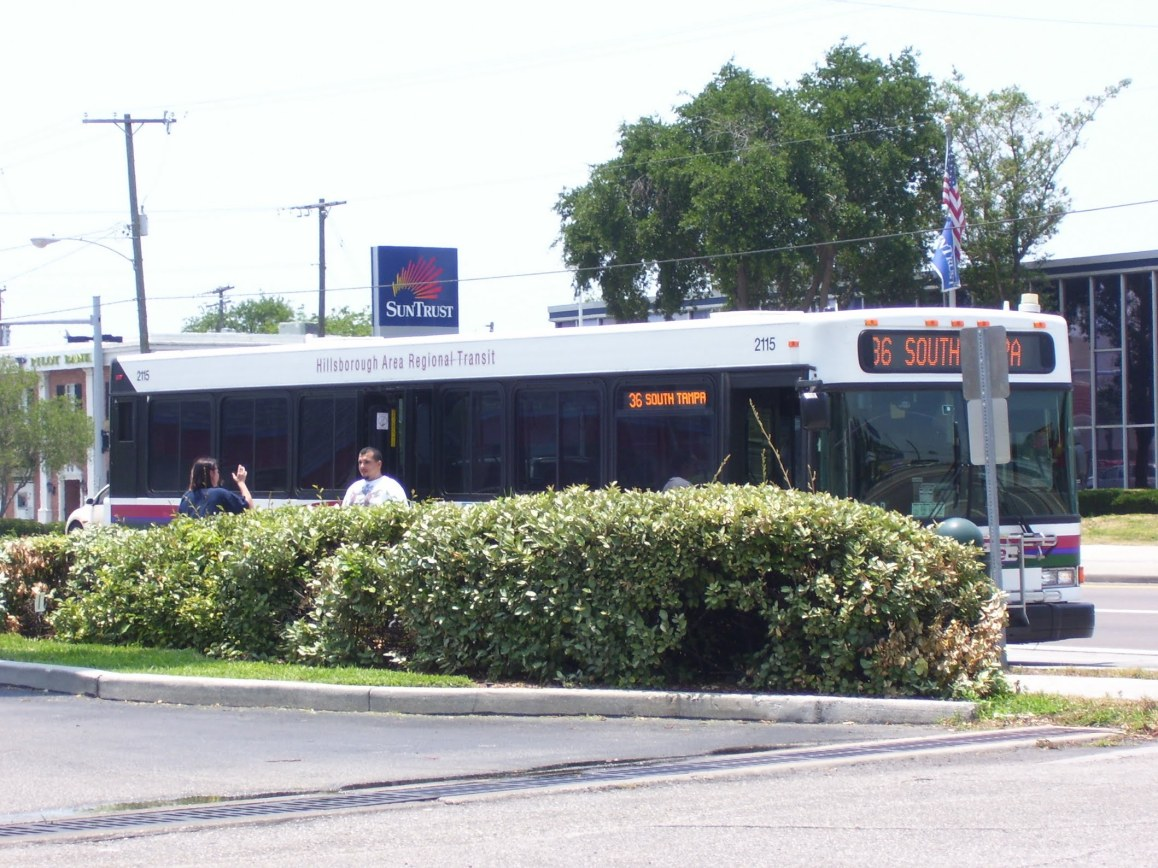 #2115 at Britton Plaza, running Route 36. Photo taken by HARTride 2012. April, 2009.