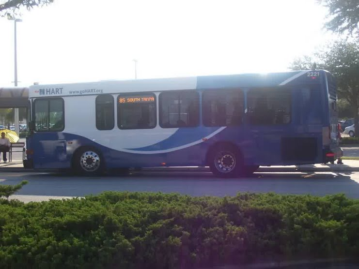HART's former fixed-route connectors used regular transit buses. This one is on the defunct Route 85. Photo Credit: HARTride 2012. October, 2008.