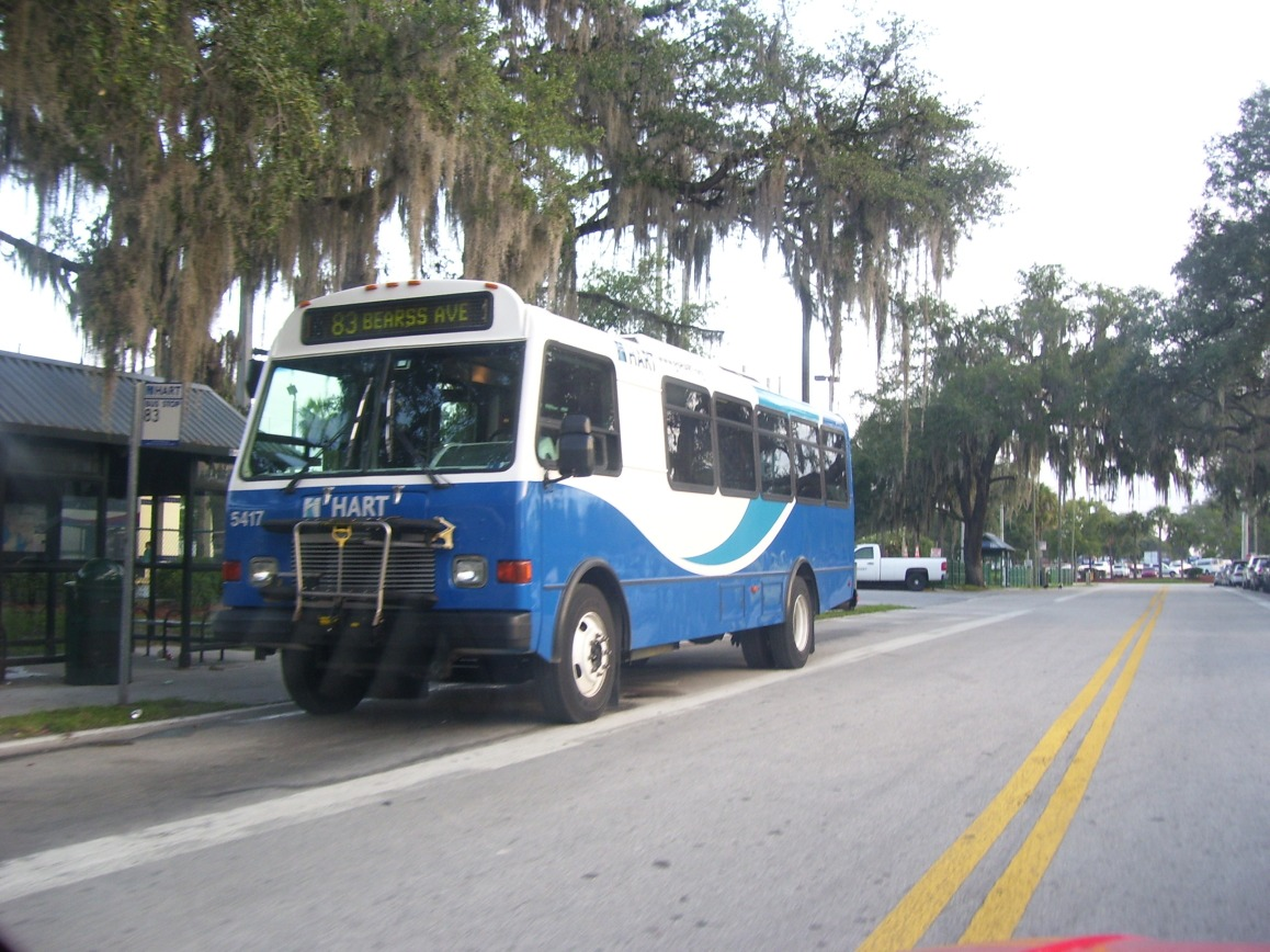 #5417 at the UATC, running the defunct Route 83. Photo taken by HARTride 2012. January, 2010.