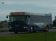 Here is #2903 on the Crosstown Expressway, heading to Brandon/Riverview Oaks. Notice that there is no headsign on the side of this bus. Photo taken by HARTride 2012. November, 2009.