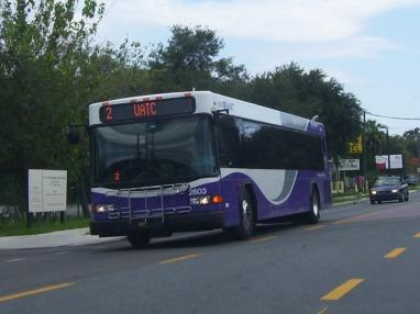 #2603 travels down Nebraska Ave, Route 2. Photo taken by HARTride 2012. July, 2009.