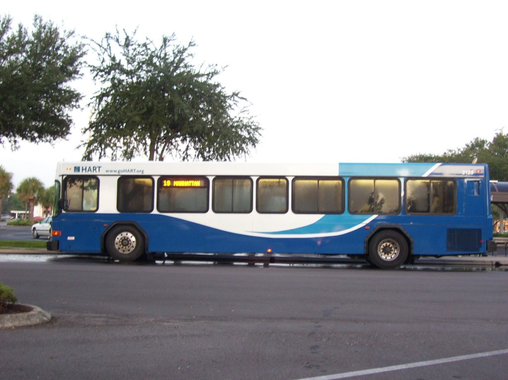 #2123, also at Britton Plaza, in the new colors. Photo taken by HARTride 2012. November, 2009.