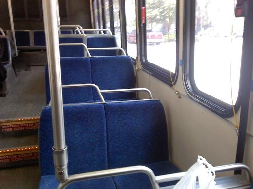 Refurbished interior of #905. Photo taken by HARTride 2012. December, 2010.