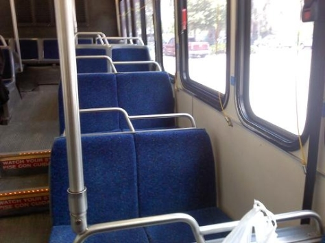 Refurbished interior of #905. Photo taken by HARTride 2012. December, 2010.