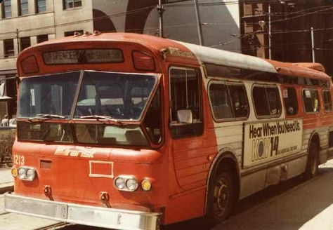 The Flxible New Look bus. Photo Credit: Shawn B. (from his Pittsburgh Transit History website).
