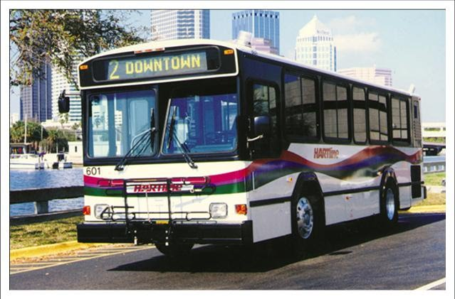 #601 sits near Tampa General Hospital on the Davis Islands. Photo Credit: HART (Used with Permission).