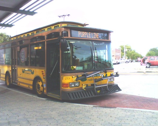 #2701 parked at the Marion Transit Center. Photo taken by HARTride 2012. October, 2009.