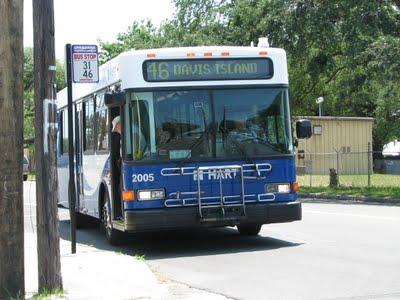 #2005 spotted along Route 46 near the Port of Tampa. Notice the bus stop shield? Route 31 no longer travels to downtown Tampa like it used to. It's northern terminus is now Westfield Brandon. Photo Credit: Andy C.