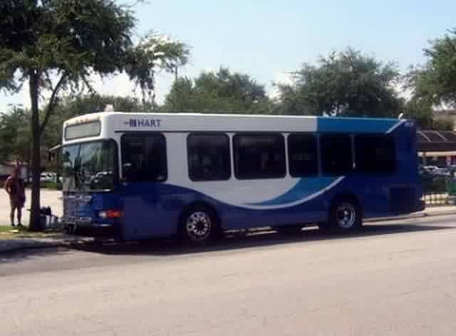 #2015 at Britton Plaza, running the defunct Route 89. She was actually the very first HART bus to be painted in the current livery. Photo taken by HARTride 2012. August, 2008.