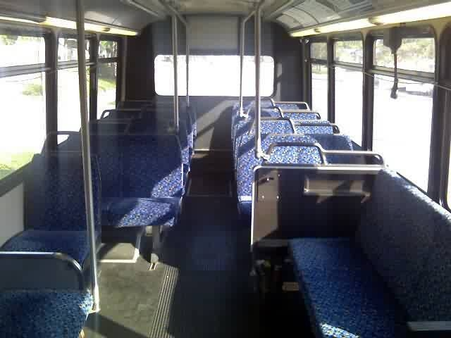 The interior of the Champion/Freightliner. Notice the plush seating? Photo Credit: Shawn B.