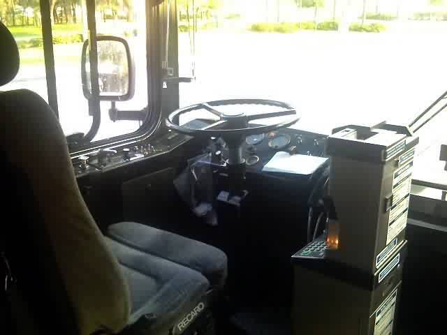 The operator's area of the bus. Photo credit: Shawn B.