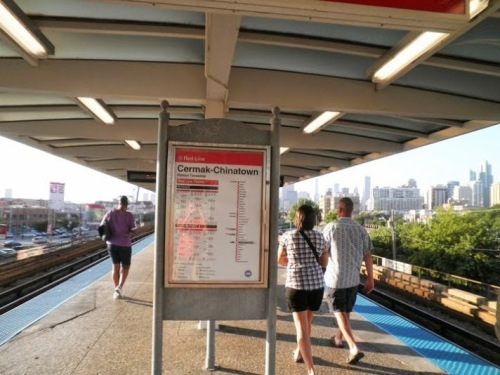 The Cermak-Chinatown Station along the CTA Red Line (prior to the recent reconstruction project). Photo Credit: Steve Y.