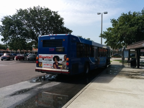 #2205 prepares to pull out of Britton Plaza. Photo Credit: HARTride 2012. June, 2014.