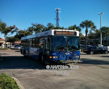 #2415 leaving Britton Plaza.