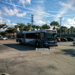 """Apparently, #2904 was not having a good day today. The operator changed the headsigns to read """"GARAGE"""", meaning that he was putting the bus out of service. He then proceeded to the street-side staging area on Dale Mabry Hwy to switch buses."""