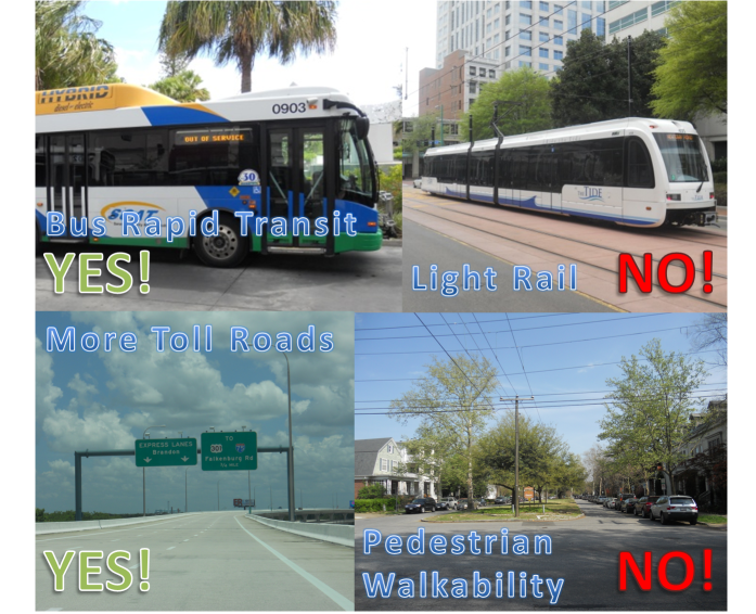 What priorities does the Florida Department of Transportation REALLY have? Photo collage by HARTride 2012.