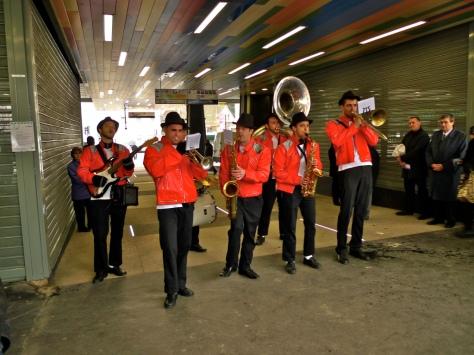 Music fills the terminal of Villejuif! Photo Credit: Soundlandscapes Blog.