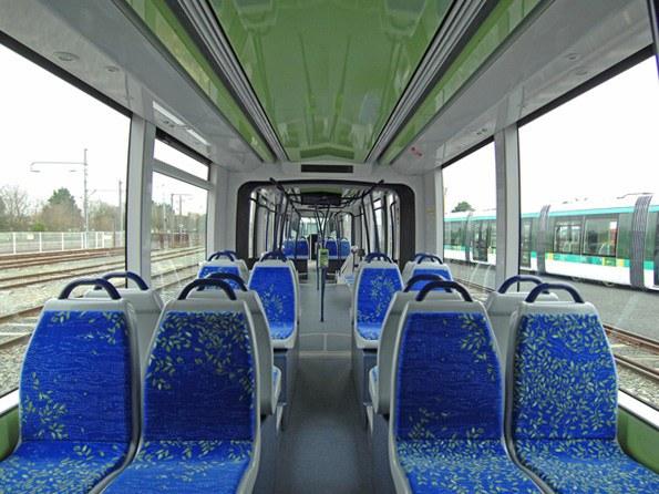 The interior of the Alstom Citadis 302 LRV. Photo Credit: Alstom.