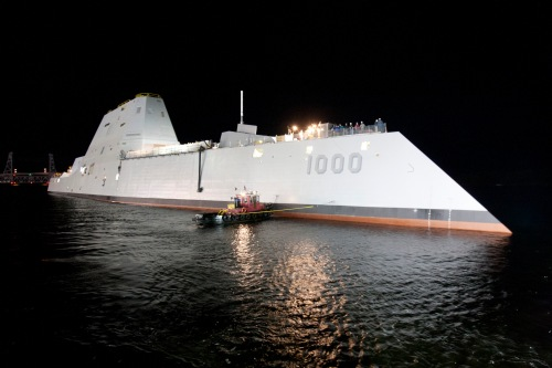 Speaking of destroyers, this is one of the US Navy's newest  Zumwalt-class destroyers. There will be three of these ships initially, but the US Navy hopes to have more in the fleet in the not-so-distant future. Photo credit: US Navy/General Dynamics.
