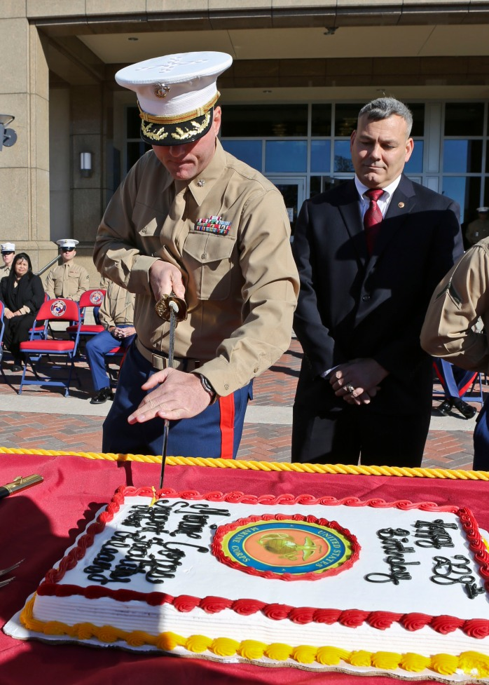 Sunday, November 10 marks the 238th birthday of the US Marine Corps! What a better way to celebrate than with a cake cutting ceremony! :) Photo Credit: US Marines/Cpl. Lauren Whitney.