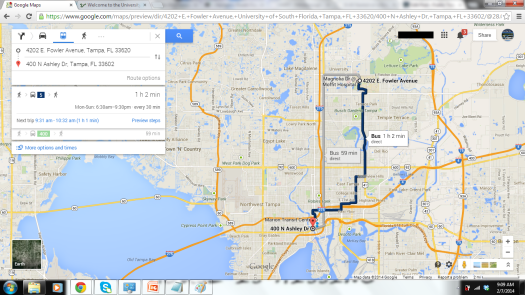 Vola! The transit directions option!