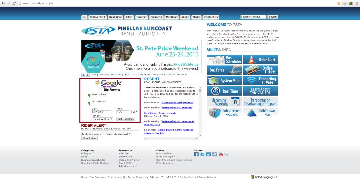 Google Trip Planner PSTA 1