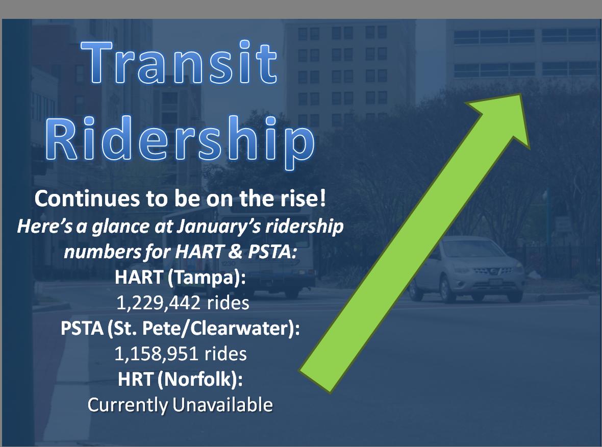 January Ridership 1