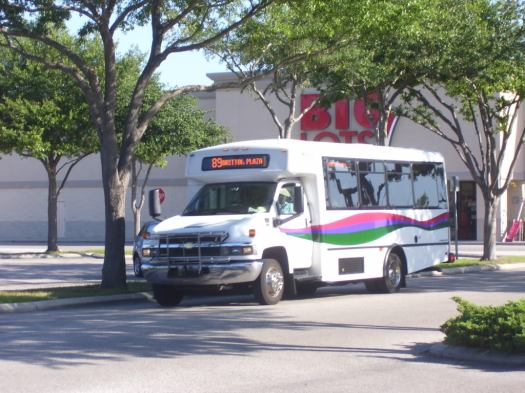 At one time, Route 89 ridership dipped so low that cutaway vans were deployed regularly. Photo credit: HARTride 2012.