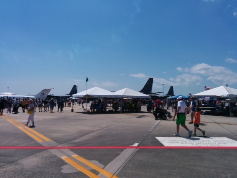 Arriving at the AirFest event area. Photo Credit: HARTride 2012, March, 2014.