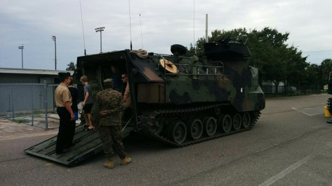 A US Marine Corps assault vehicle. Photo Credit: HARTride 2012.