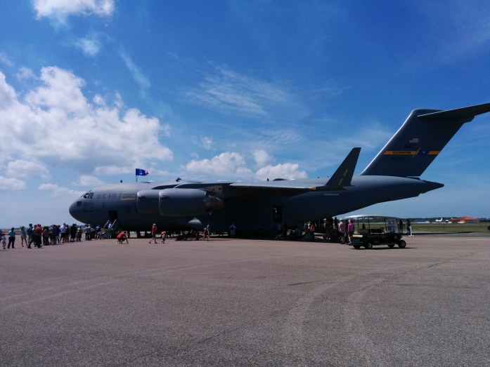One of many military planes on display at the 2014 Tampa Bay AirFest. Photo Credit: HARTride 2012.