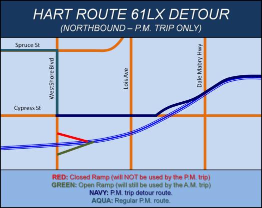 HART Route 61LX WestShore Detour